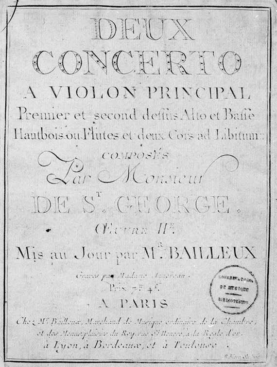 Chevalier De Saint Georges 1745 1799